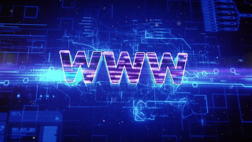 Abstract animation of world wide web (www) text in digital cyberspace | Shutterstock HD Video #16917856