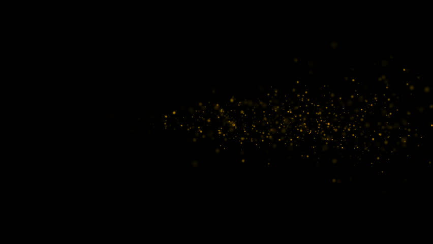 4 Clips Element Abstract Gold Glitter Design On A Black Background Pack