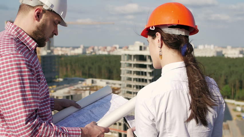 Architect and engineer looking on project | Shutterstock HD Video #16938016