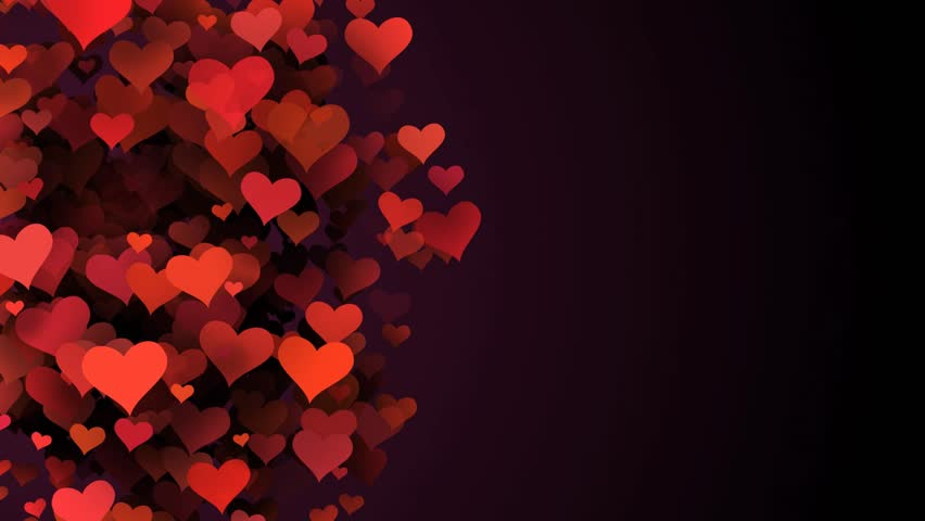 Red Hearts, Abstract Background