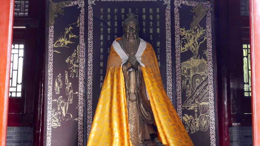Statue of Confucius in Songyang Academy.  Songyang Academy was one of the four great academies in ancient China