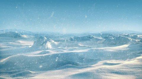 Arctic Landscape In Snowstorm