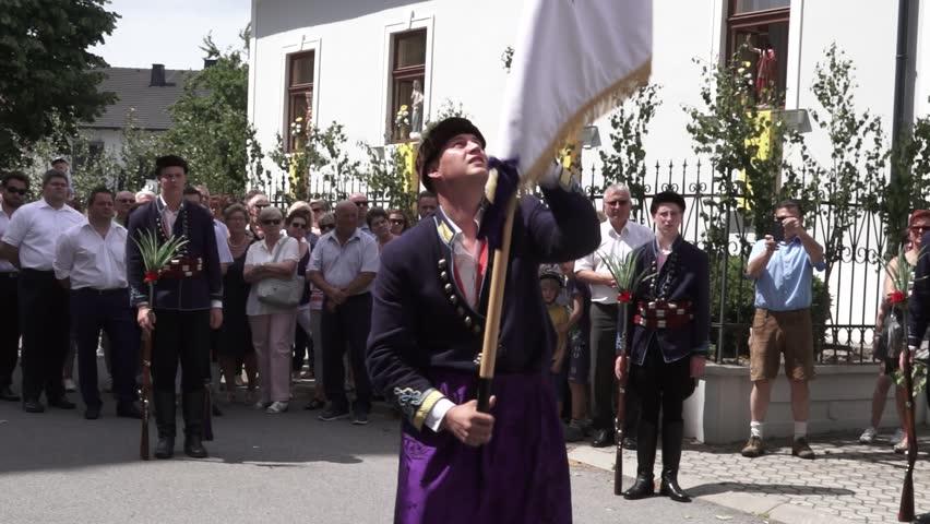 neckenmarkt austria may 29 2016 traditional flag throwing at neckenmarkt with - Traditional Castle 2016