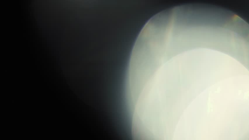 Light Leaks on Black Background
