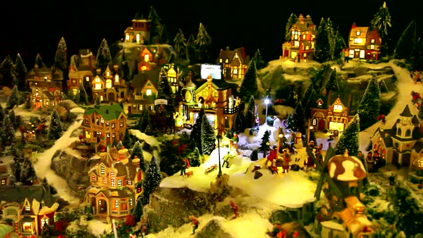 Christmas toy village