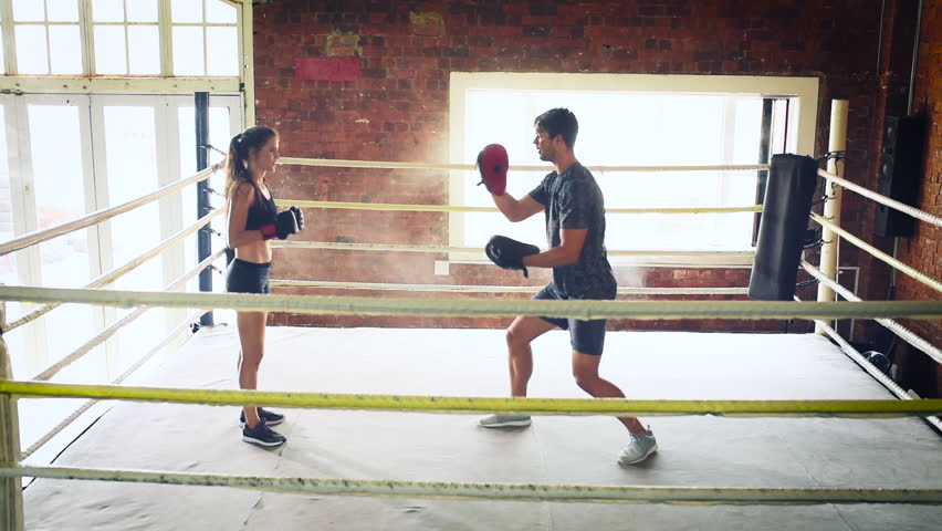 Jumping of the figure skater stock footage video 21149659 shutterstock man woman training gym boxing mma ring pads mixed martial arts fitness hd stock footage thecheapjerseys Gallery