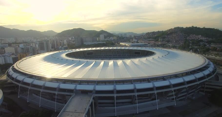 Aerial view of the Maracana Stadium in Rio De Janeiro Brazil (February 01, 2016 - Rio De Janeiro, Brazil)