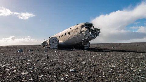 plane wreck at Solheimasandur beach in southern Iceland