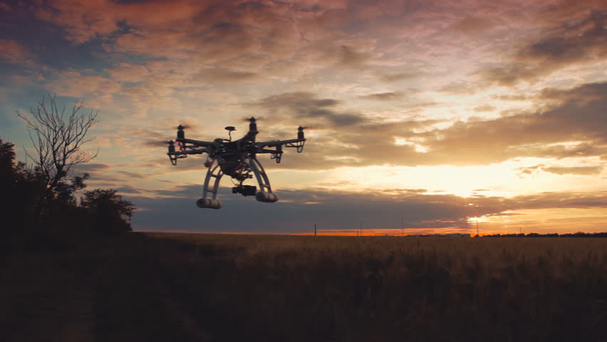 Custom drone hexacopter flies in the sky   Shutterstock HD Video #17258206