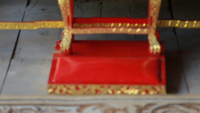 Set Of Thai Altar Table With Buddha Statue Stock Footage Video ...