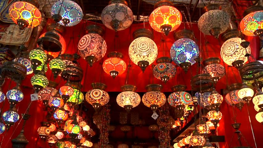 Lights in Grand bazaar in Istanbul-Turkey