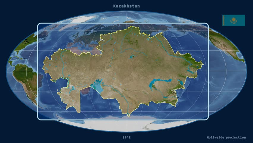 Kazakhstan Map Stock Footage Video Shutterstock - Kazakhstan map hd