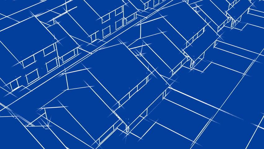 Blueprint animated loop house plan background stock footage blueprint houses animation hd loop hd stock video clip malvernweather Images