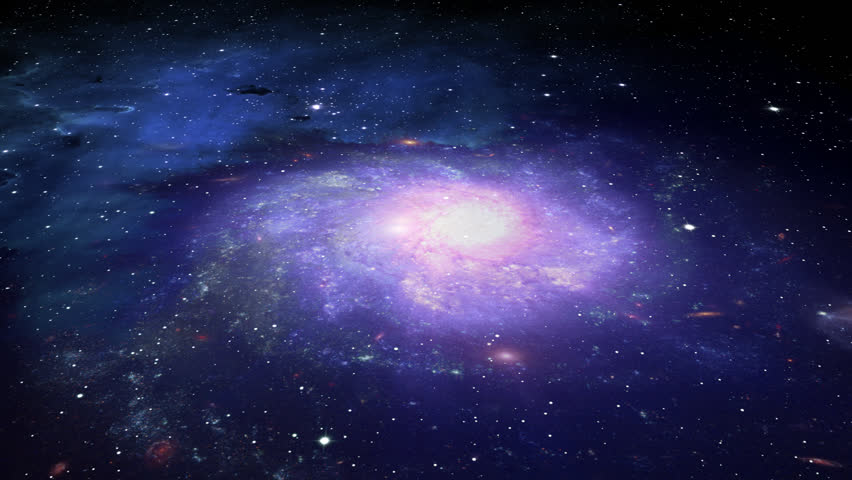 Galaxy In Deep Space Stock Footage Video 1764341