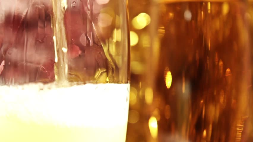 Champagne against a gold fur-tree | Shutterstock HD Video #1740796