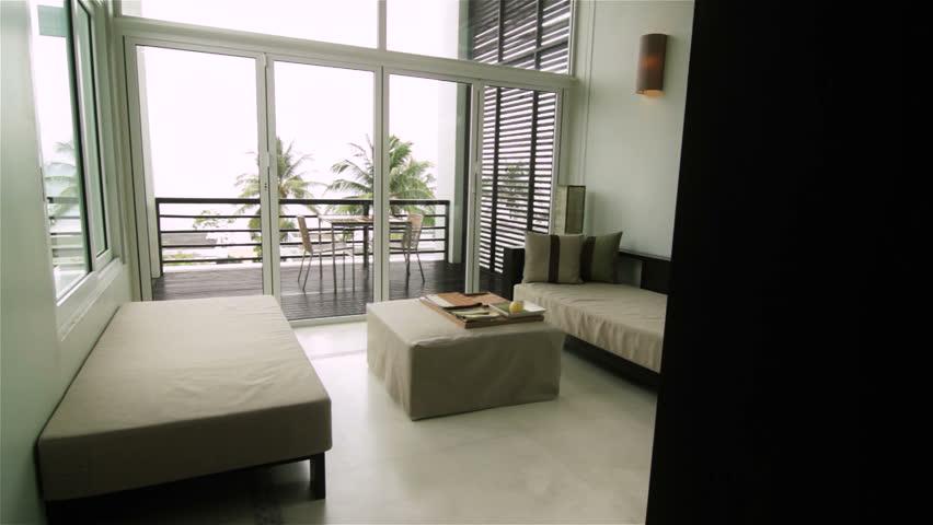 Luxury Apartment Interior Tracking Shot