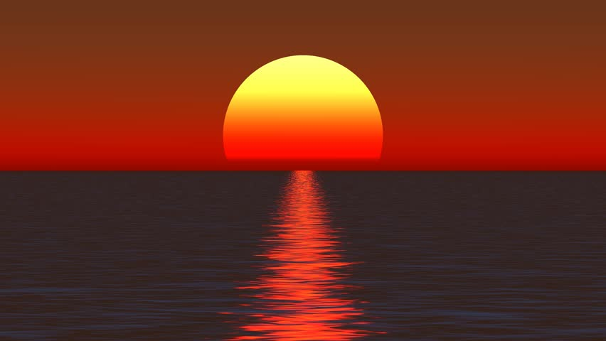 25k Big Sun Rise Over Ocean,Sunrise Time Lapse. Cg_25_25k Stock ... | title | sunrise time