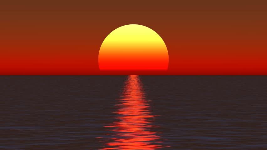 25k Big Sun Rise Over Ocean,Sunrise Time Lapse. Cg_25_25k Stock ... | title | sunrise time