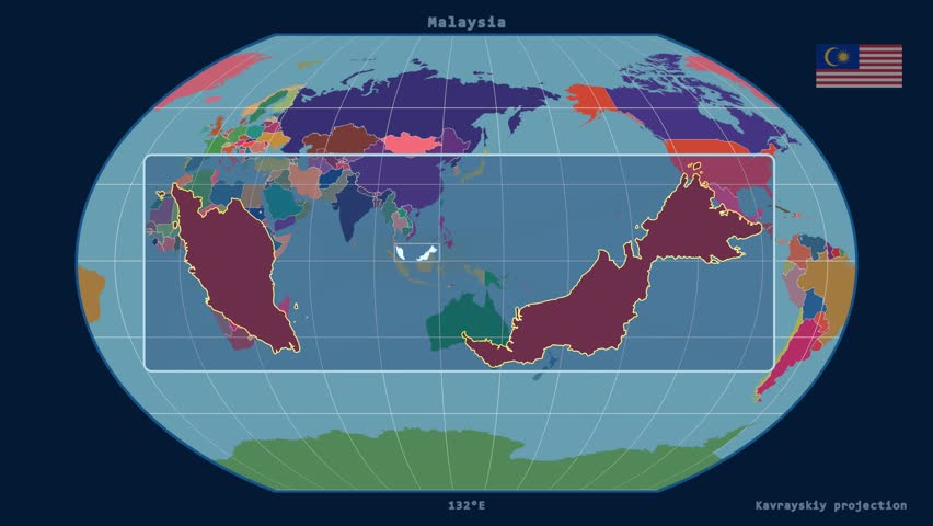 4k india earth zoom in 3d animation with matte layers included zoomed in view of a malaysia outline with perspective lines against a global admin map gumiabroncs Image collections
