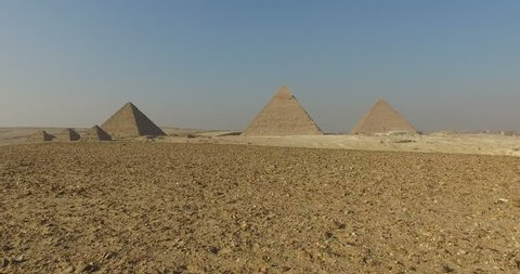 View of beautiful Giza pyramids, Egypt