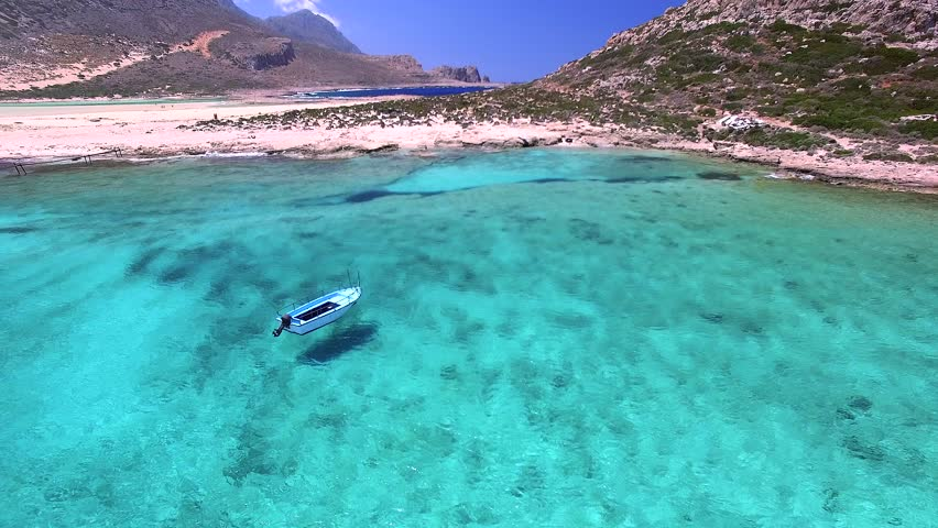 Beautiful crete landscape with amazing beaches (aerial view) | Shutterstock HD Video #17578396
