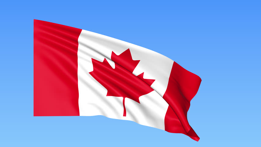 Canadian Flag - Slow Motion Stock Footage Video 1671007 ...