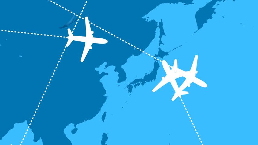 Global Air Travel Looping Animation