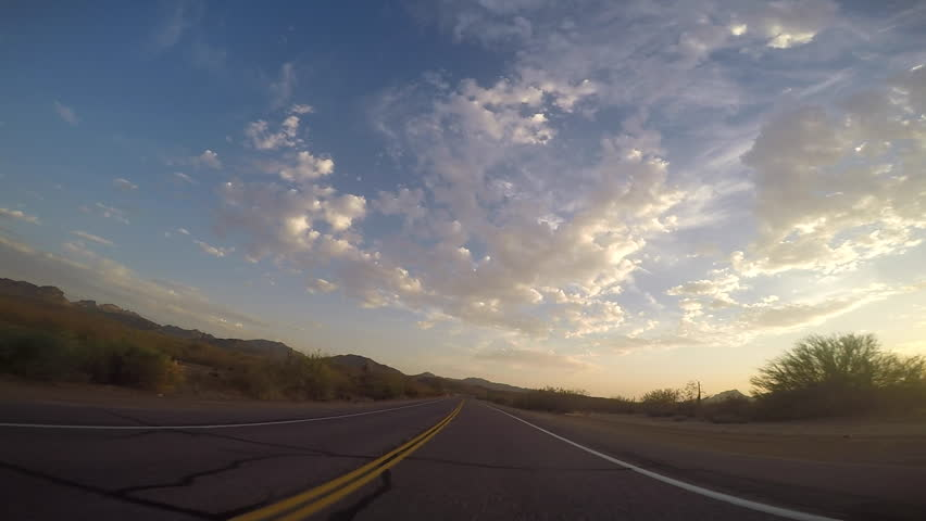 Mesa, AZ/USA - 6- 25, 2016:8 of 8, Time-lapse drive on Bush Highway, Arizona. It begins at northern end of Power Road and extends northeasterly through Tonto National Forest to the Beeline Highway | Shutterstock HD Video #17601976