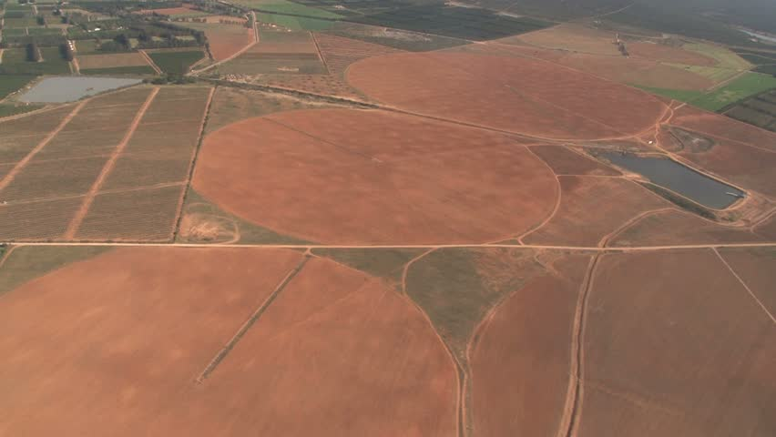Aerial view of South African farmland