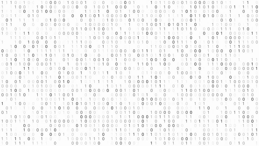 Screen with fast changing binary codes listing white background texture | Shutterstock HD Video #17646406