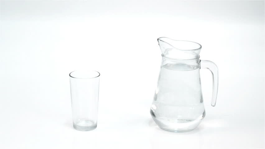 Water gets  into in glass | Shutterstock HD Video #1765346