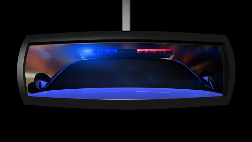 Good Stock Video Of Police Car In The Rearview Mirror | 1767746 | Shutterstock