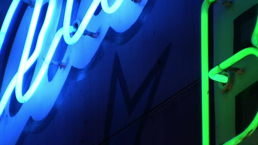 Restaurant, Bar, Jackpots - Neon Sign