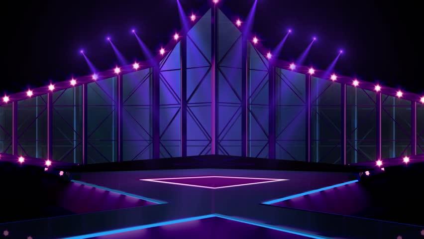 Entertainment Tv Studio Set - Stock Footage Video (100% ...