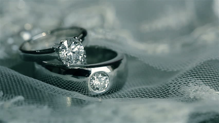A Pair Of Wedding Ring Stock Footage Video 100 Royalty Free