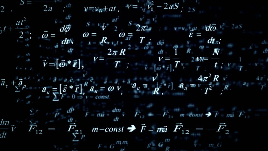 Seamless Background With Math Formulas On Blackboard Royalty Free ...