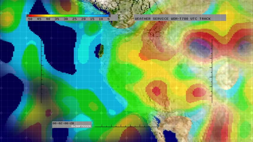 Weather Radar Digital Satellite Map MidWest Stock Footage Video - Western us weather map