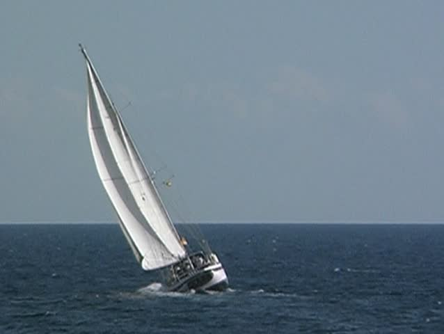 Yacht at sea 1