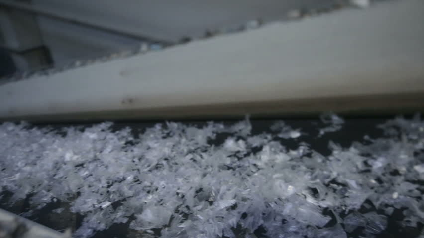 Production of polymer chips. Plastic recycling