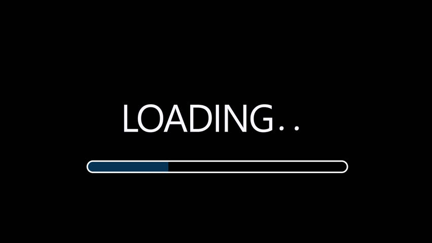 Simple loading data design motion graphics stock clip #17983