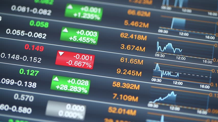 Digital stock market chart information | Shutterstock HD Video #18018139