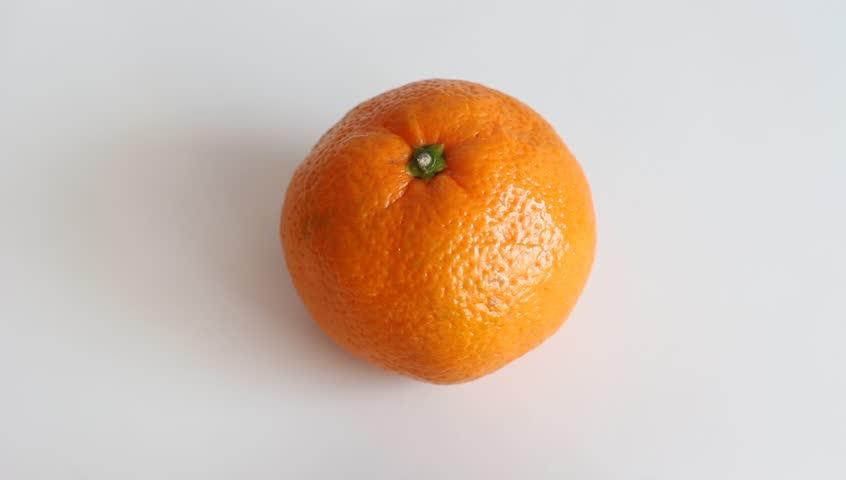 Peeling A Tangerine Stock Footage Video 100 Royalty Free 1803296