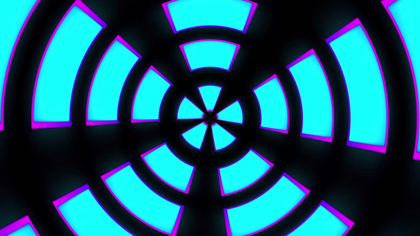High Definition  motion background featuring an infinite tunnel of colorful shapes rotating over black background. | Shutterstock HD Video #18038746