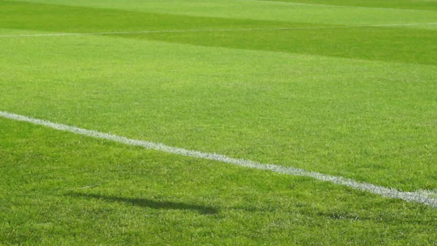 stock video of soccer  football  field  shadow corner flag