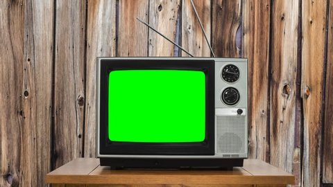 Zoom into Vintage Television with Chroma Green Screen