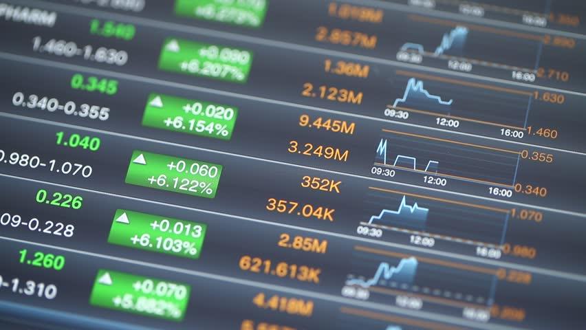 Stock market index on digital tablet | Shutterstock HD Video #18072589