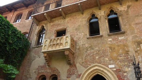 Original Balcony of Romeo and Juliet at Juliets home in Verona - Casa di Giulietta