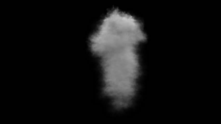 Smoke, steam on a black background. Alpha channel. 3D animation and rendering. | Shutterstock HD Video #18082876