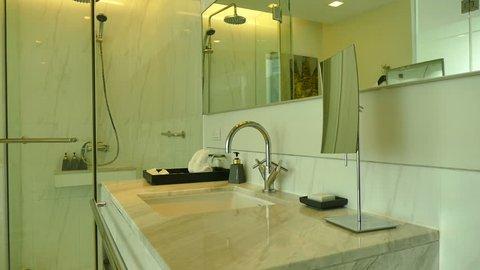 Decoration in Bathroom and toilet interior
