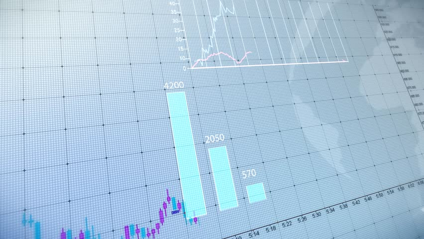 Bar graph of stock exchange market indices animation. Abstract animated 4k video background. | Shutterstock HD Video #18097546